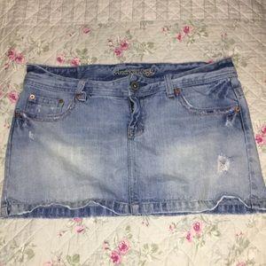 American Eagle denim skirt distressed size 12